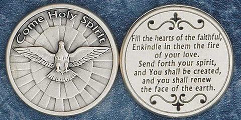 Come Holy Spirit Religious Pocket Coin