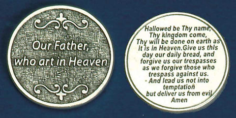 Our Father Religious Pocket Coin