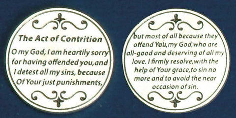 Act of Contrition Religious Pocket Coin