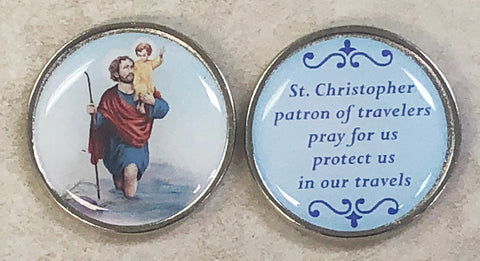 St. Christopher Pocket Coin - Pack of 12