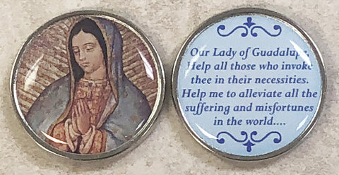 Our Lady of Guadalupe Pocket Coin - Pack of 12