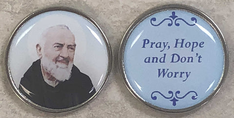 St. Padre Pio Pocket Coin - Pack of 12