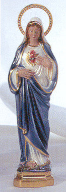 Statue: Immaculate Heart of Mary Pearlized with Jeweled Halo 12""