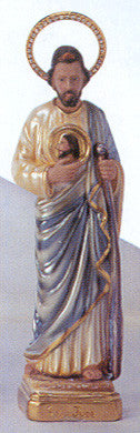 Statue: St. Jude Pearlized with Jeweled Halo 12""