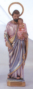 Statue: St. Joseph Pearlized with Jeweled Halo 12""