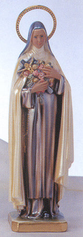 Statue: St. Therese Pearlized with Jeweled Halo 16""