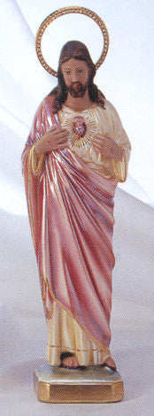 Statue: Sacred Heart of Jesus Pearlized with Jeweled Halo 16""