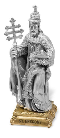 St. Gregory Pewter Statue