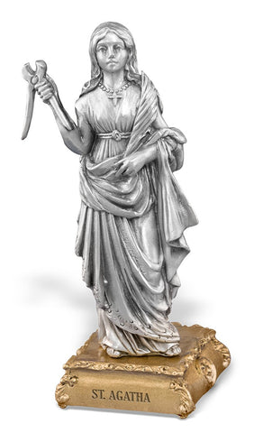 St. Agatha Pewter Statue