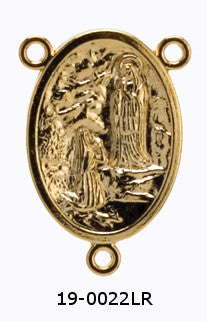 Lourdes Rosary Center - Gold Plated