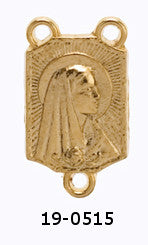 Madonna Rosary Center - Gold Plated