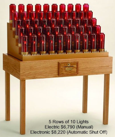 Electronic Institutional Votive Stand - Discount Catholic Store
