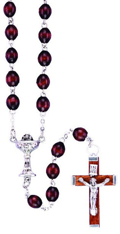 Wood Bead First Communion Rosary - Discount Catholic Store