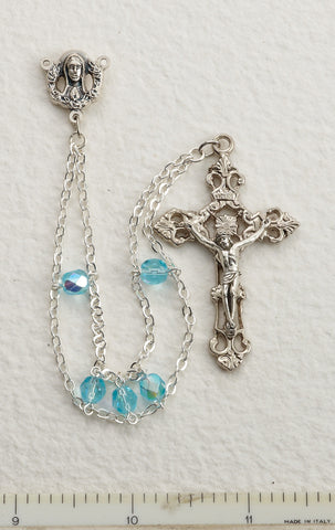 Aqua Ladder Rosary - Discount Catholic Store