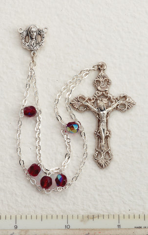 Garnet Ladder Rosary - Discount Catholic Store