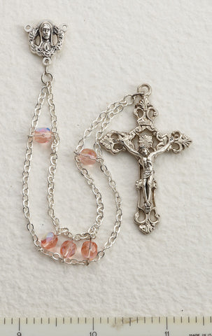 Pink Ladder Rosary - Discount Catholic Store