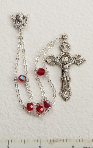 Ruby Ladder Rosary - Discount Catholic Store