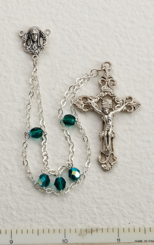 Emerald Ladder Rosary - Discount Catholic Store