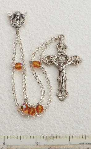Topaz Ladder Rosary - Discount Catholic Store