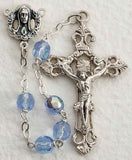 Light Blue Glass Bead Rosary