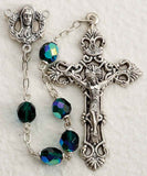 Emerald Glass Bead Rosary