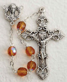 Topaz Glass Bead Rosary