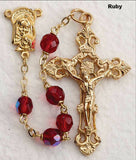 Ruby Glass Bead Rosary