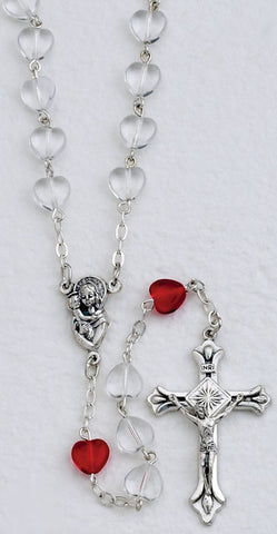 Glass Heart Shaped Beads - Discount Catholic Store