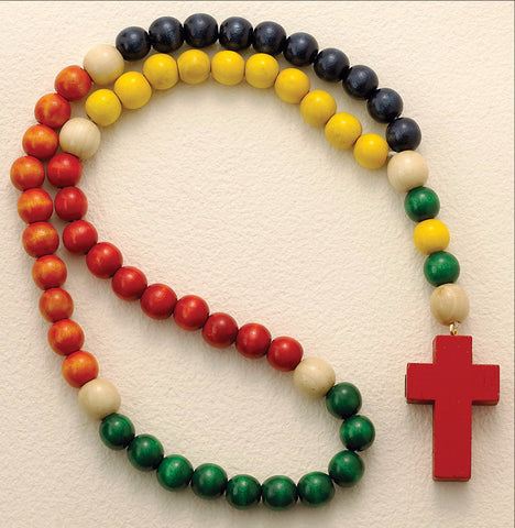 "18"" Wood Rosary for Children - Discount Catholic Store"
