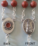 Genuine Rose Petal Rosary with Fatima Soil