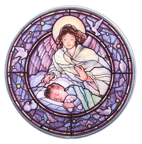 Guardian Angel with Boy Genuine Stained Glass