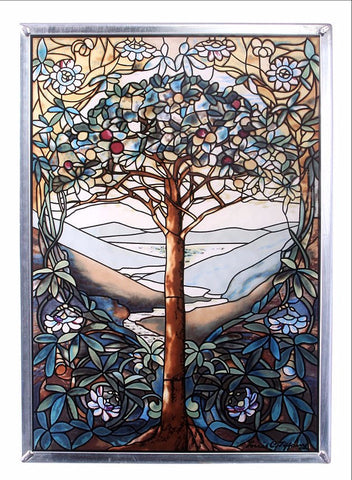 Tiffany Tree of Life Genuine Stained Glass
