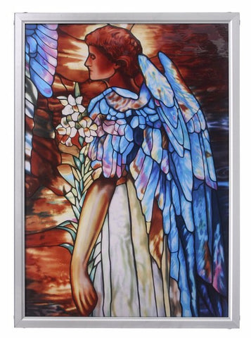 Tiffany Resurrection Angel Genuine Stained Glass