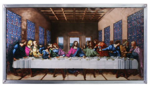Last Supper Genuine Stained Glass