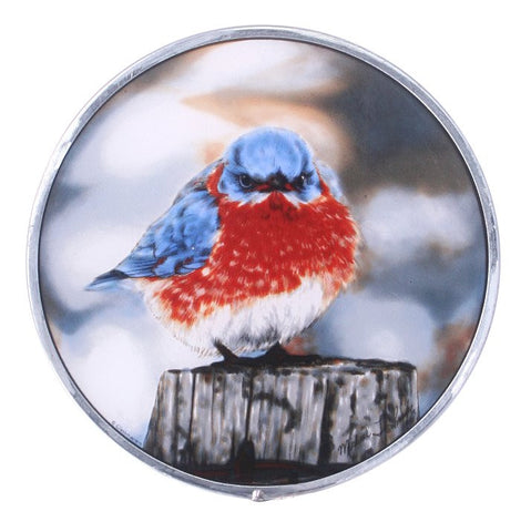 """Mad Bluebird"" Genuine Stained Glass"