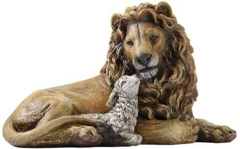 Lion & Lamb Statue - Discount Catholic Store
