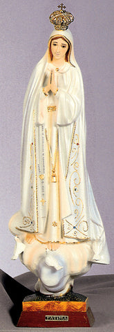 Our Lady of Fatima Statue with Glass Eyes Made in Fatima! - Discount Catholic Store