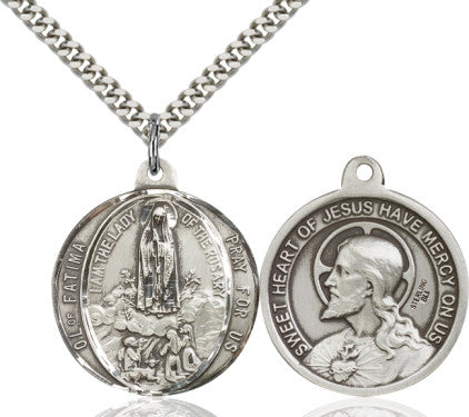 Our Lady of Fatima / Sacred Heart of Jesus Medal