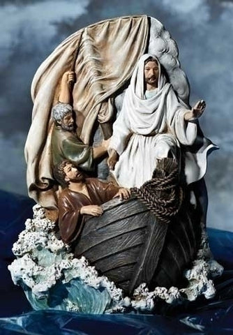 Jesus Calms the Storm Statue - Discount Catholic Store