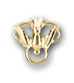 Lapel Pin - Holy Spirit - Gold Tone 7/8""