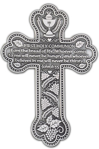 First Communion Wall Cross - Discount Catholic Store