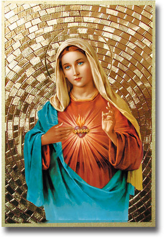 Immaculate Heart of Mary Mosaic Plaque
