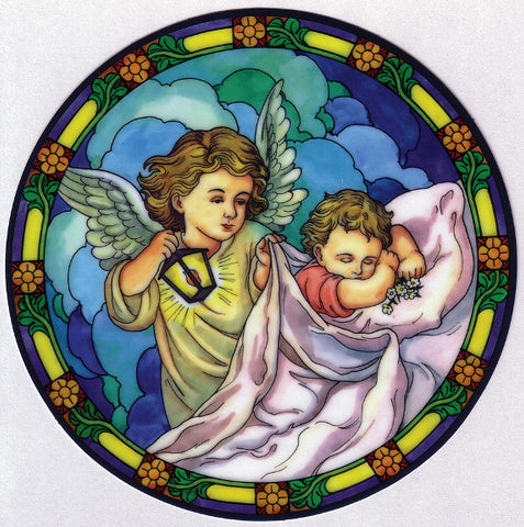 Angel with Child Window Sticker