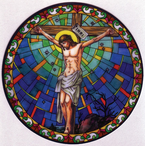 Crucifixion Window Sticker