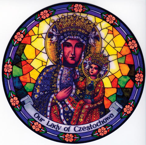 Our Lady of Czestochowa Suncatcher