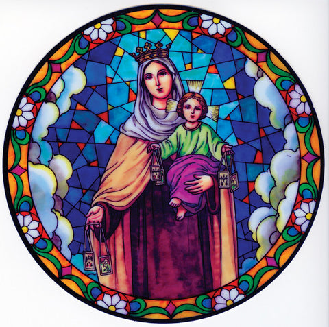 Our Lady of Mount Carmel Suncatcher