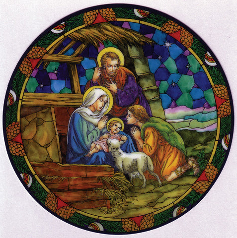 Nativity Window Sticker