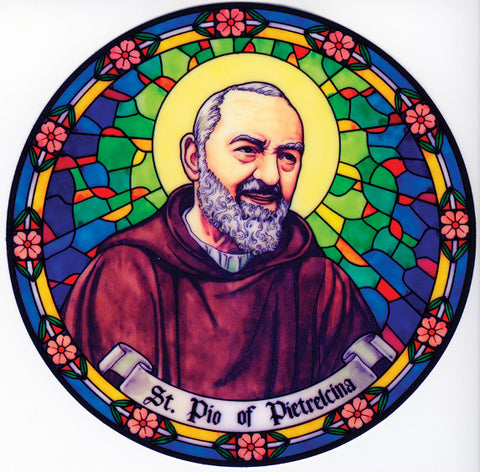 St. Padre Pio Window Sticker