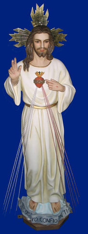 Divine Mercy Statue 40 Inches with Glass Eyes!