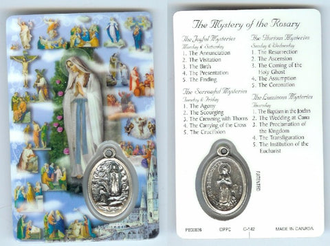 Mysteries of the Rosary Prayer Card